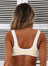 KK Crop Bralette Swim Top in Lemon