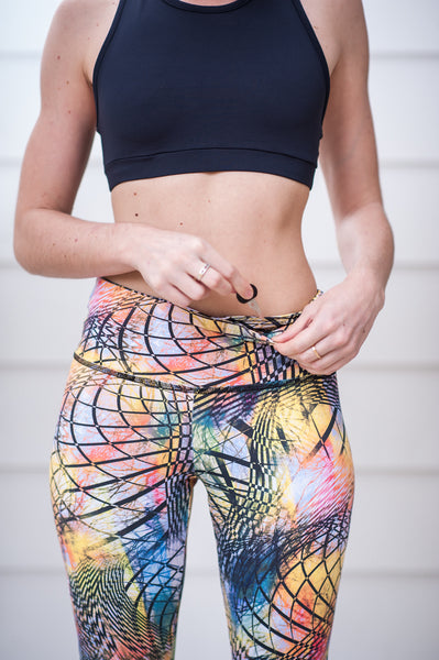 """Summer Vibes"" Performance Legging - Trampoline Activewear"