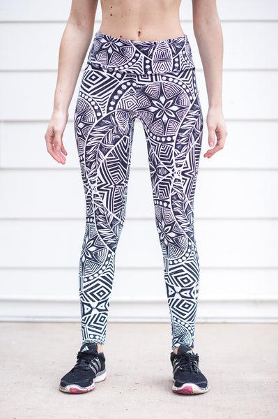 """Natural Mystic"" Performance Legging - Trampoline Activewear"