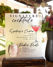 Load image into Gallery viewer, Drink Sign 2