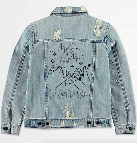 My Sun, Moon, & Stars Denim Jacket