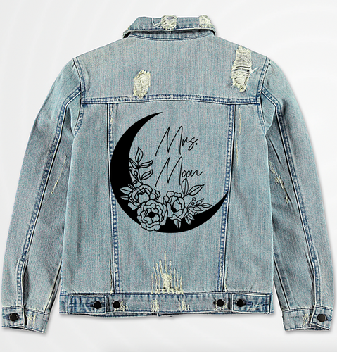 Foral Moon Denim Jacket