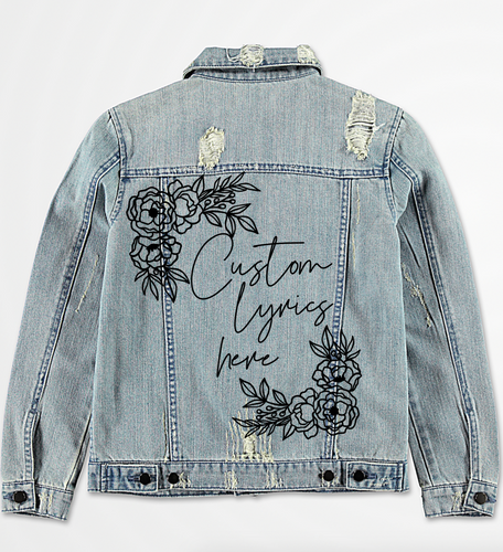 Custom Lyric Denim Jacket