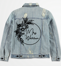 Load image into Gallery viewer, Floral Denim Jacket