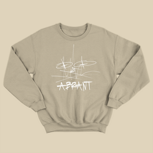 """Wreckless Mess"" Crewneck (Sandstone)"