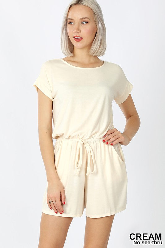 Romper with Elastic Waist