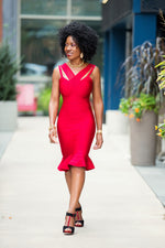 Red Bandage dress