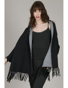 Knitted Reversible Poncho