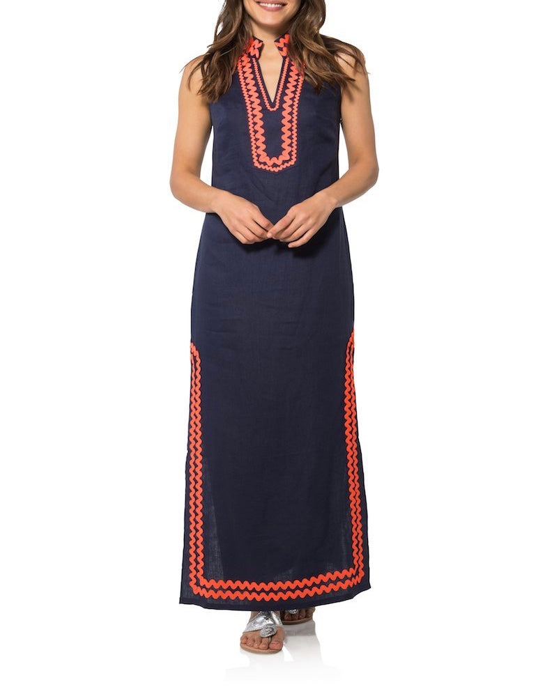 Sleeveless Maxi Navy Tunic