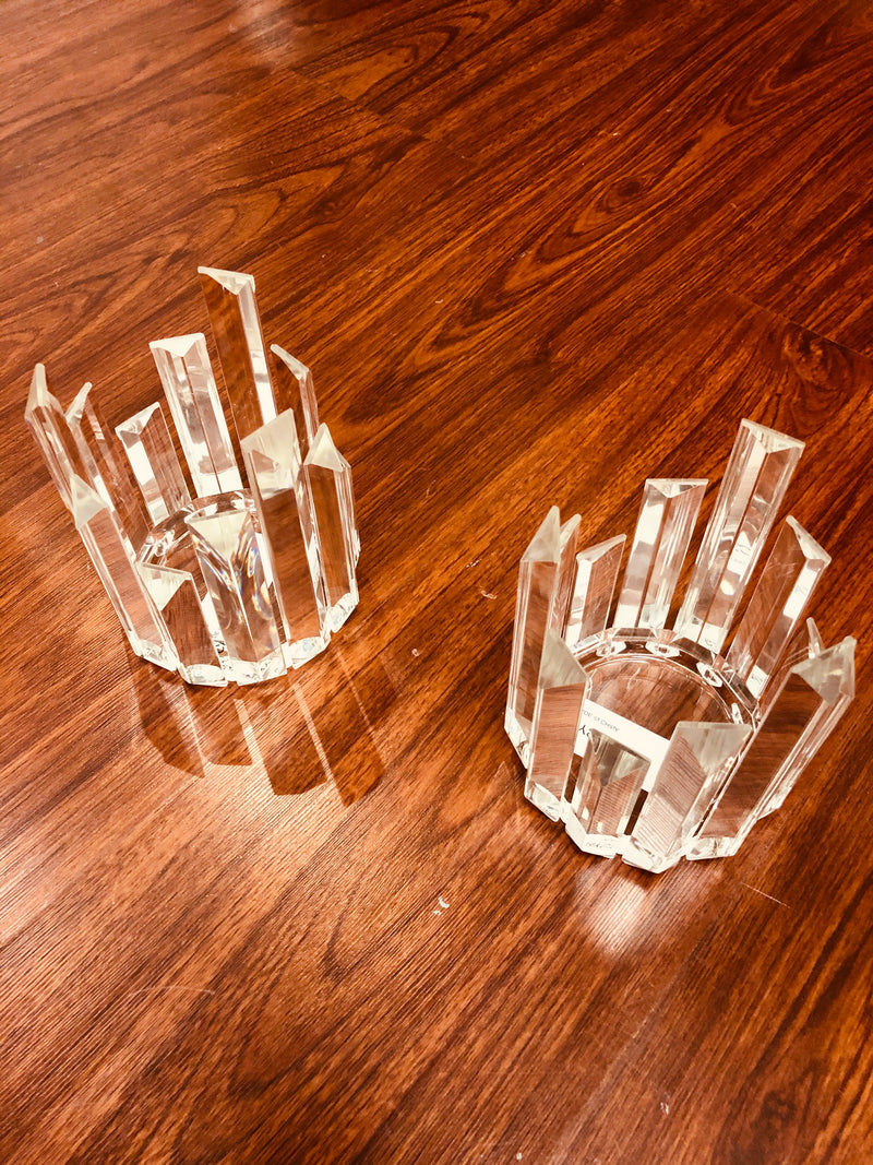 Crystal candle Holders