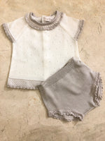 Knit shirt set