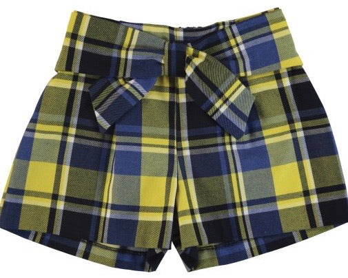Yellow Plaid shorts