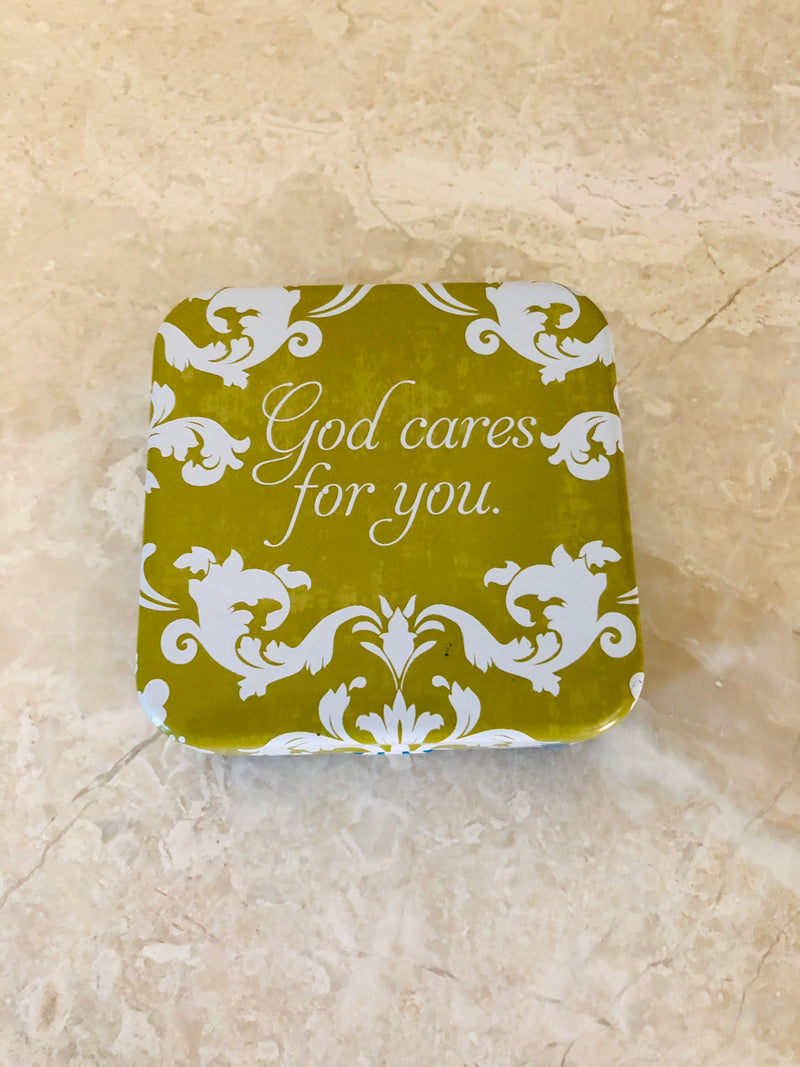 God cares for you pill box