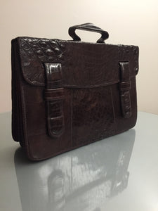 Crocodile briefcase
