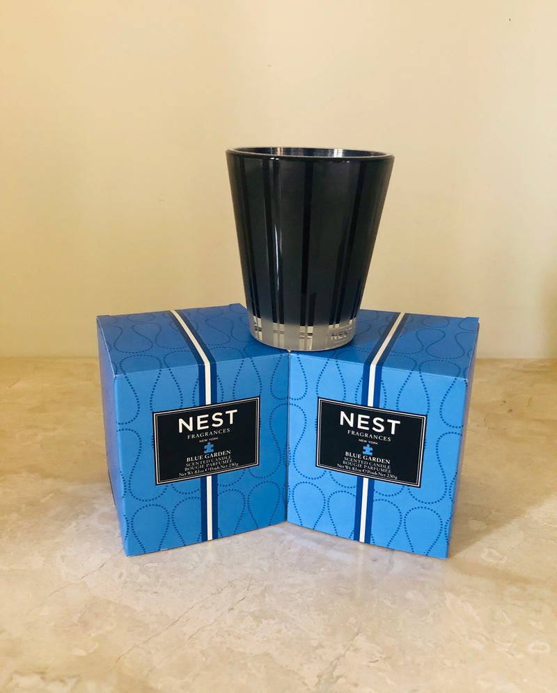 Blue Garden Nest Candle