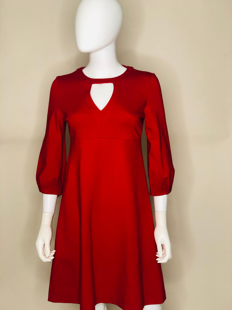 Red Keyhole Dress