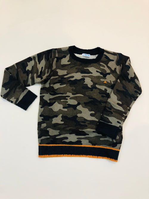 Camoflague sweater