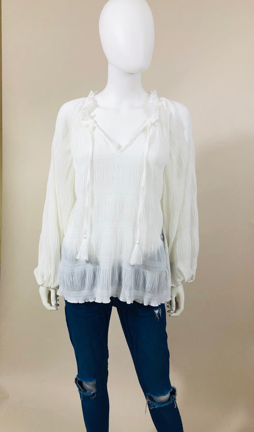 Crinkled peasant Top