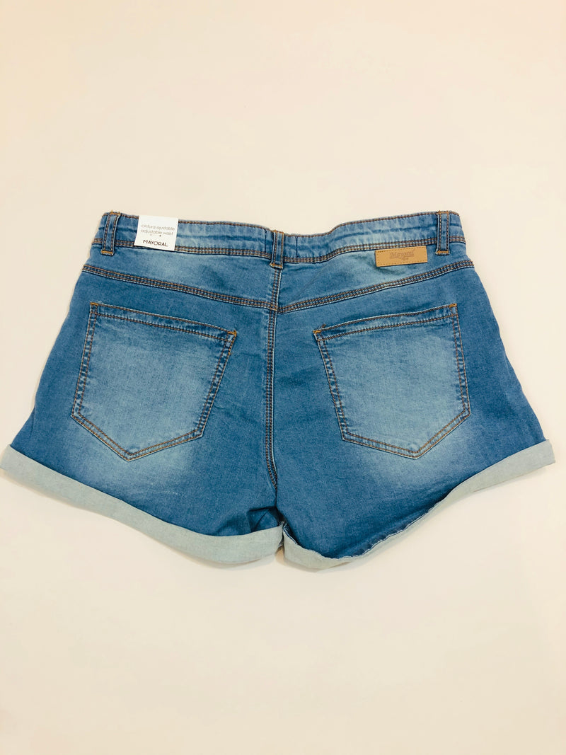 Denim shorts with Rhinestone detail