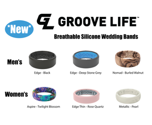 Groove Life Rings - Silicone Wedding Band
