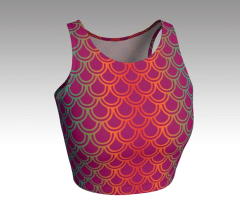 Mermaid Crop Top: Magenta