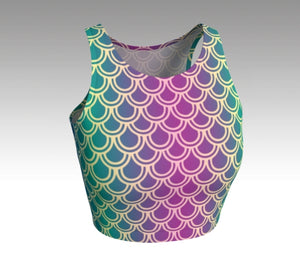 Mermaid Crop Top: Orchid
