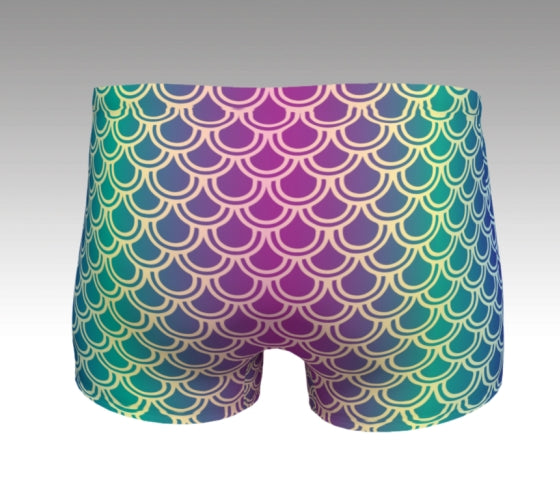 Mermaid Shorts: Orchid