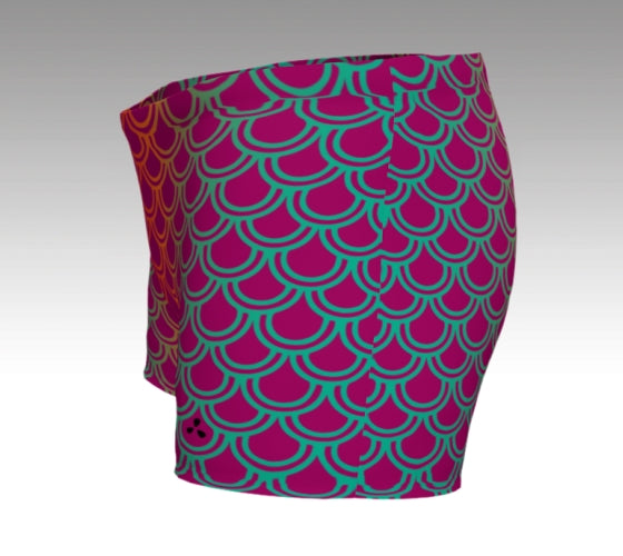 Mermaid Shorts: Magenta
