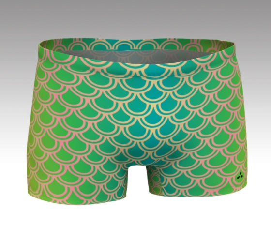 Mermaid Shorts: Green