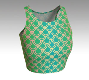 Mermaid Crop Top: Green