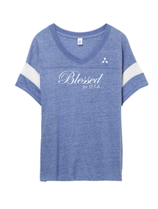 Blessed V-Neck - Blue
