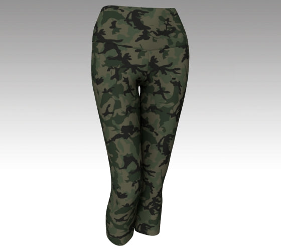 Green Camo Pant - Cropped