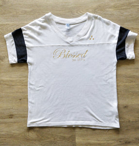 Blessed V-Neck - White