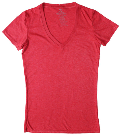 Triblend Heathered V-Neck