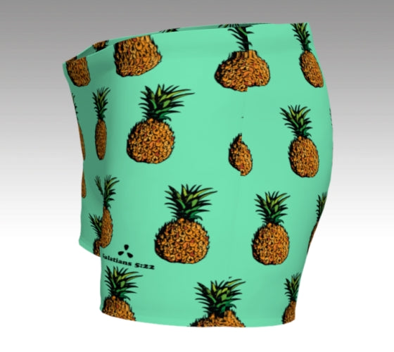 Pineapple Shorts: Mint