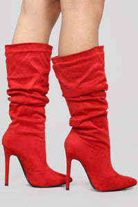 RED Devil Heeled Boots - Red