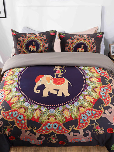 Monkey & Elephant Print Sheet Set
