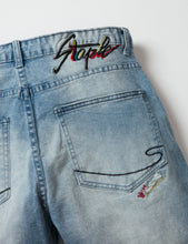 Abstract Denim Shorts