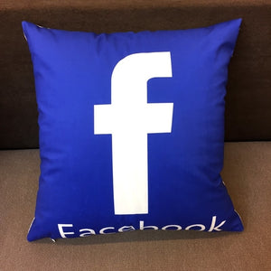 Social Logo Pillow