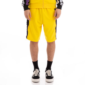 Authentic Berno Yellow White Violet Shorts