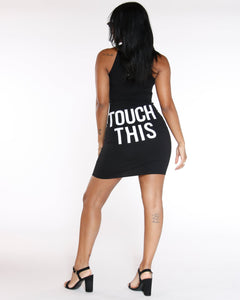 Dont Touch This Cut Out Dress - Black