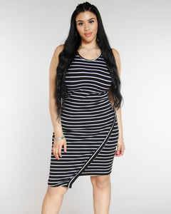 Rena Sleeveless Dress - Black