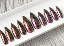 Chrome Snakeskin Nail Set • Press on Nails • Any Shape or Size