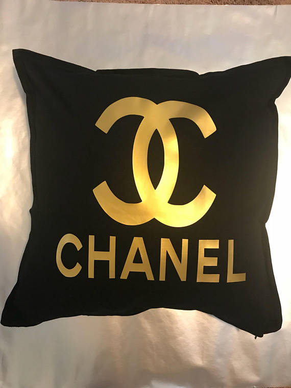 Chanel Inspired Throw Pillow