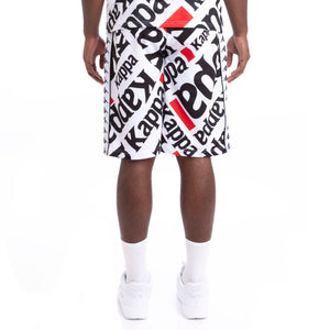 222 Banda Arnet White Black Graphic Shorts