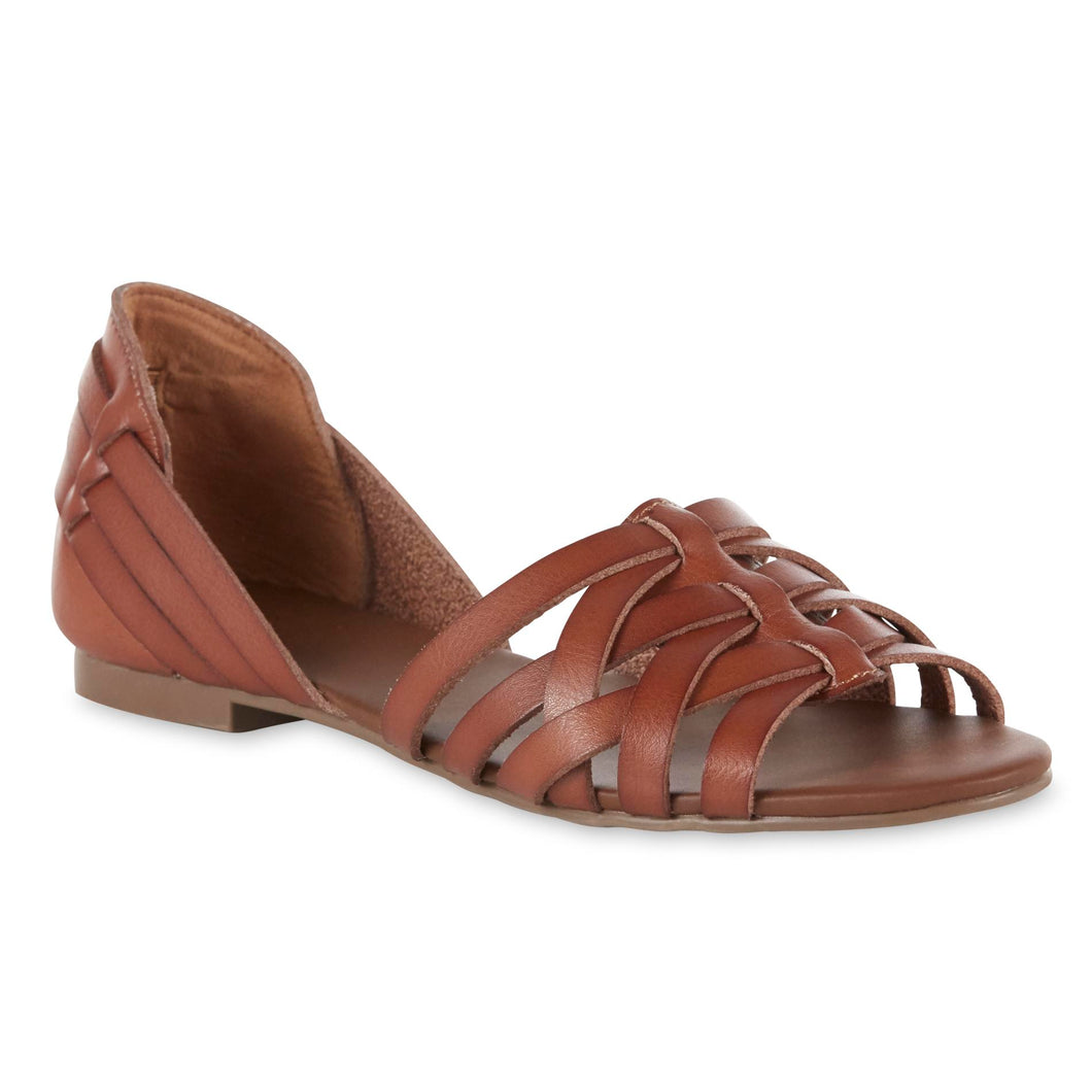 Dolly Brown Flat Sandals