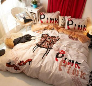 Pink Sexy Duvet Cover Set (6 Styles Available)