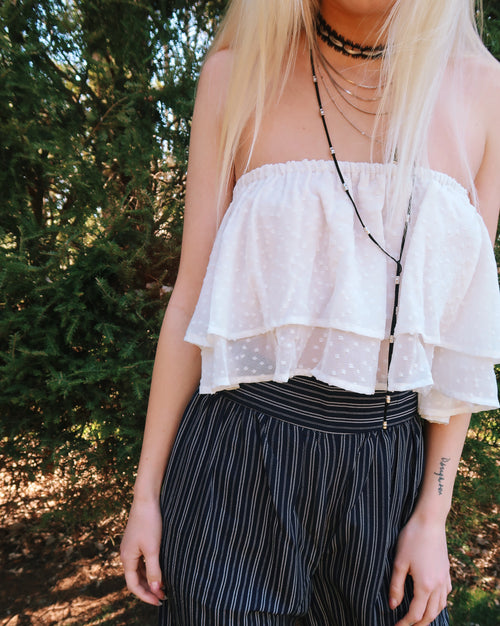 Sweet Ivory Tube Top