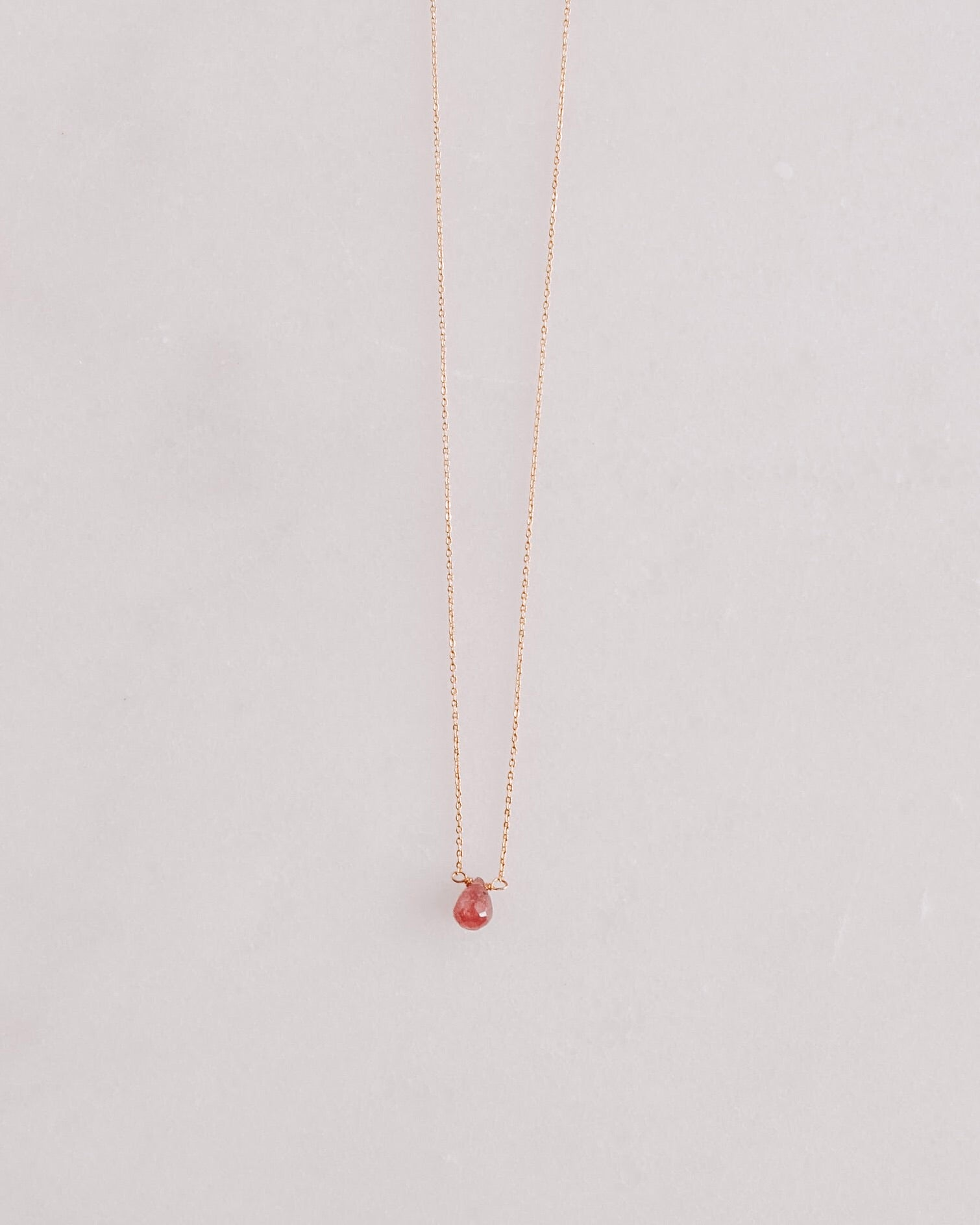 Ruby Tear Necklace
