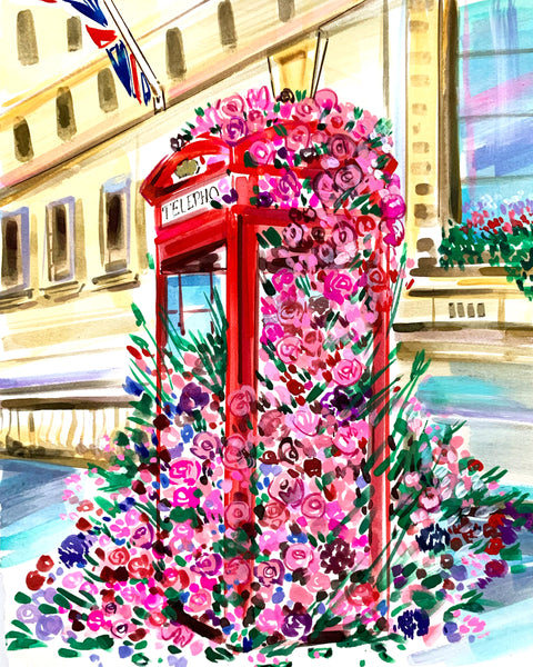 TWD Live Paint Class: LONDON IN BLOOM (Saturday August 8 @ 1 PM EST)